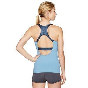 ALO Yoga Venture Metallic Blue Tank Top